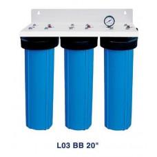 "Система 3-х ступенчатой очистки Bio+ systems, L03 BB 20"" настенная"