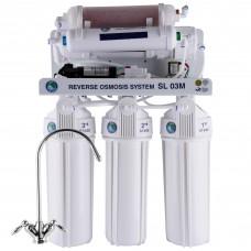 Система обратного осмоса Bio+ systems (мембр. Filmtec пр-во США) с насосом+мин-р RO-75-SL03M